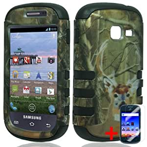 SAMSUNG GALAXY CENTURA S738C GREEN DEER HUNTING HYBRID COVER HARD GEL CASE + FREE SCREEN PROTECTOR from [ACCESSORY ARENA]