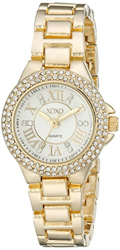 XOXO Womens XO5770 Analog Display Analog Quartz Gold Watch