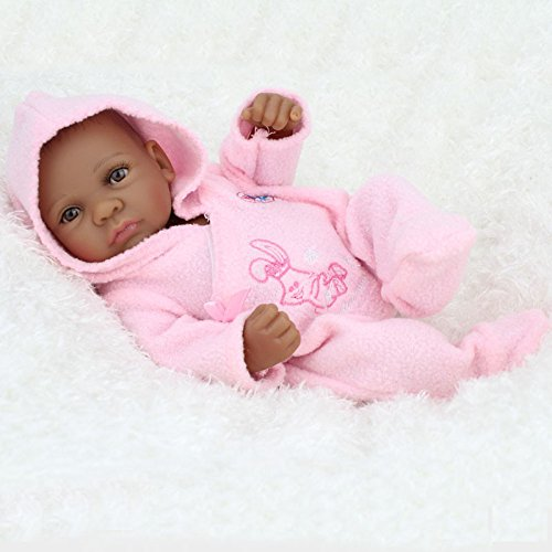 Search : Fan Moon Reborn Baby Doll Mini Black Alive Silicone Full Body African American Girl Bath Towel Wrapped 11 Inch