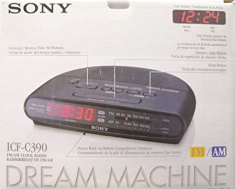 Sony icfc390 AM/FM reloj de alarma dual radio (descontinuado por fabricante)