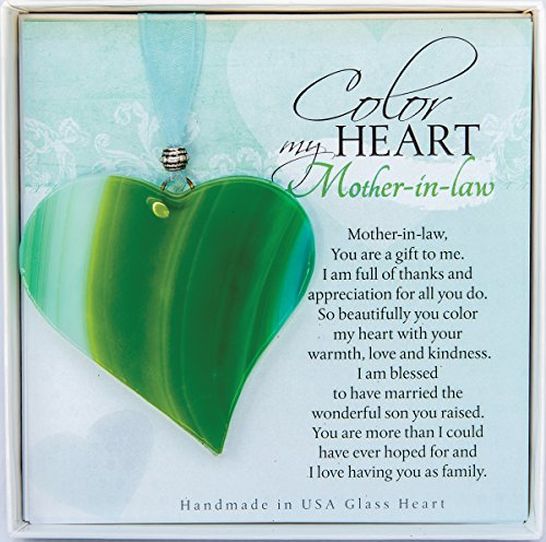 The Grandparent Gift Mother in Law Handmade Glass Heart