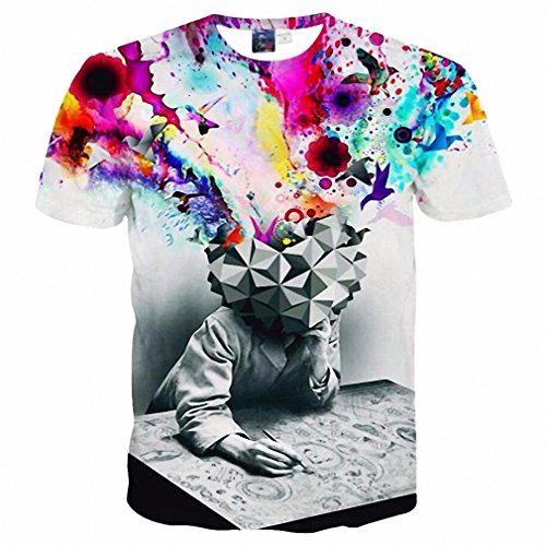 Costume O Uk Lion (Fashion Men/women 3d t-shirt funny print colorful hair Lion King summer cool t shirt street wear tops tees Asia)