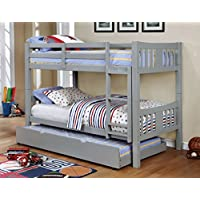 HOMES: Inside + Out IDF-BK929GY Teranda Bunk Bed Childrens Frames, Twin/Twin, Gray