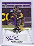 "MARSHON LATTIMORE 2014 LEAF ""1ST EVER PRINTED"" U.S. ARMY HIGH SCHOOL ALL-AMERICAN CERTIFIED AUTOGRAPHED ROOKIE CARD! OHIO STATE BUCKEYES!"