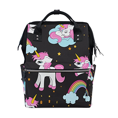 VISTYLE Backpack Diaper Bag Animal Rainbow Unicorn Portable