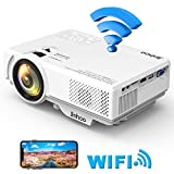 2019 Masterpiece, WiFi Mini Projector 1080P Supported, 2400 Lumens Full HD Video Projector with 176'' Projector size, 50000 Hours Lamp Lifetime, Compatible with HDMI, VGA, AV, USB for Home Theater, Movie, Video Game, Party and More