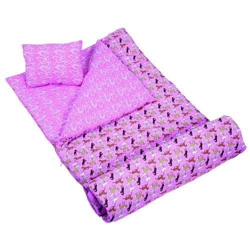 Wildkin Horses in Pink Sleeping Bag