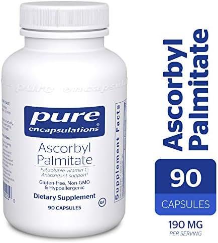 Pure Encapsulations - Ascorbyl Palmitate - Hypoallergenic Fat-Soluble Vitamin C Supplement - 90 Capsules