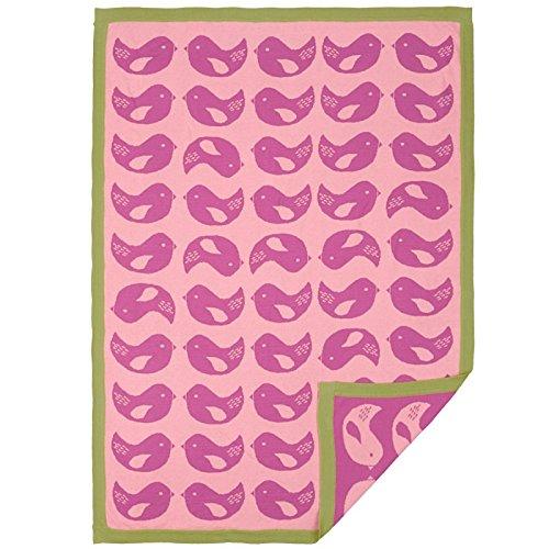 Lolli Living Mod Jacquard Knit Blanket, Mod Bird (Discontinued by Manufacturer) - Image 1