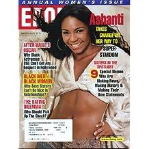 Ebony March 2003 Ashanti Cover, Halle Berry's Oscar, Sheryl Lee Ralph, Miss America Erika Harold, Columbus Ohio Mayor Turns Things Around