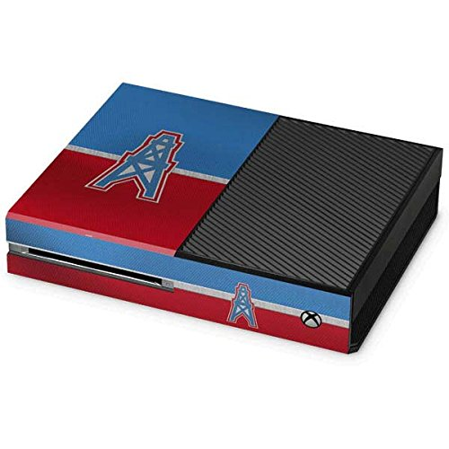 Skinit NFL Houston Texans Xbox One Console Skin - Houston Oilers Vintage Design - Ultra Thin, Lightweight Vinyl Decal Protection