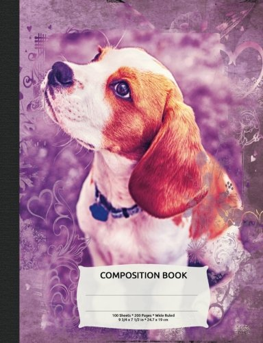 Cute Beagle Dog Composition Notebook, Wide Ruled: Lined Student Exercise Book pdf epub