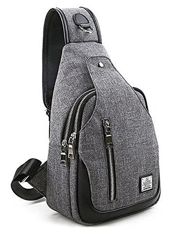 TOVOT Sling Bags Hiking Leisure Man and Women Fanny Backpack Chest Pocket Shoulder Bag (Gray)