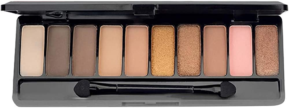Thatso 10 Colors Makeup Naked Eyeshadow Palette Matte Shimmer Glitter Pigment Waterproof Smokey Eye Shadow Pallete Set