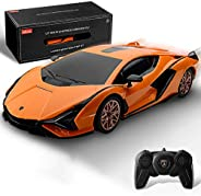 BEZGAR Officially Licensed RC Series, 1:24 Scale Remote Control Car Lambo Sián FKP 37 Electric Sport Racing Ho