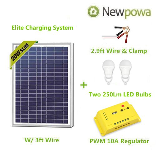 20 watt solar panel with wires - 4