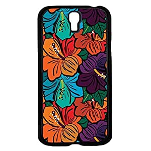 Colorful Floral Print Hard Snap on Phone Case (Galaxy s4 IV)
