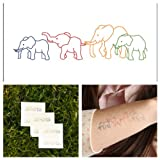 Tattify Animal Temporary Tattoo - Elephant Family (Set of 2)