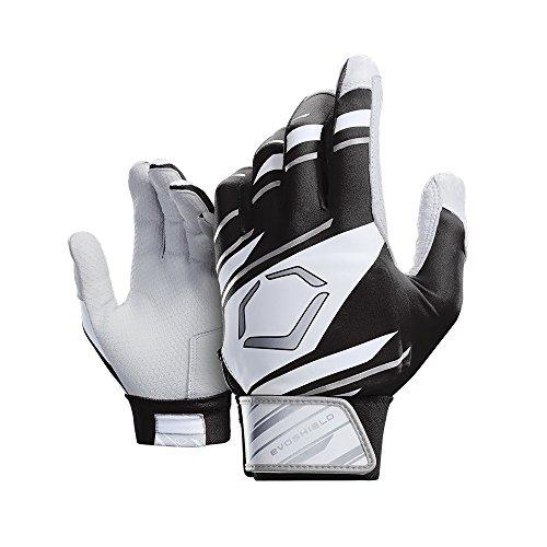 EvoShield Protective Speed Stripe Batting Gloves, Black/White/Grey, Medium