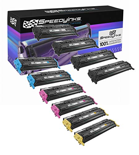 Speedy Inks Remanufactured Toner Cartridge Replacement for HP 124A (4 Black, 2 Cyan, 2 Magenta, 2 Yellow, 10-Pack)