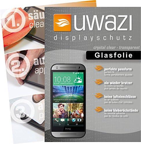 uwazi HTC One Mini 2 Semi Glasfolie - gehärtete Schutzfolie mit Spezialbeschichtung gegen Fingerabdrücke