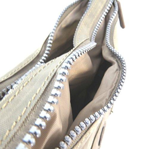 Borsa a tracolla enrico benetti beige - 29x23x10 cm.