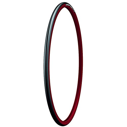 Michelin Dynamic Sport 700X23 - Cubierta de bicicleta, color negro / rojo