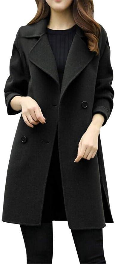 TALLA XL. Overdose Chaqueta De Invierno para Mujer Casual Outwear Parka Cardigan Slim Coat Overcoat Invierno Abrigo