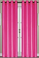 RT Designers Collection Nancy Grommet Window Panel, 55 by 84-Inch, Neon Pink