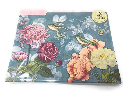 Punch Studio 12 File Folders Birds, Floral, Butterflies - File Folders Bird