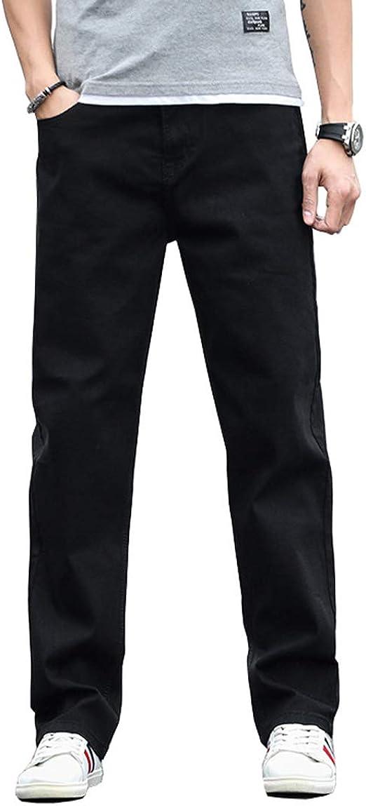 NOQINHOO ワイドパンツ デニム メンズ 大きいサイズ ゆったり ストレート ジーンズ 春夏秋