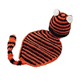 Newborn Baby Crochet Costume Photography Prop Outfit Tiger
