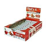 That's It Apple + Cinnamon Zesty Fruit Bars, 100% Natural Great Tasting Real Fruit Bar, Vegan, Gluten Free, Paleo, Kosher, Non GMO, 100 Calories, No Preservatives, No Added Sugar | 12 Pack