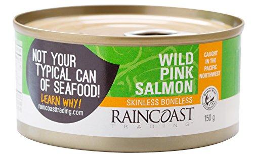 Raincoast Trading Wild Pink Salmon - Skinless Boneless (Pack of 12) -