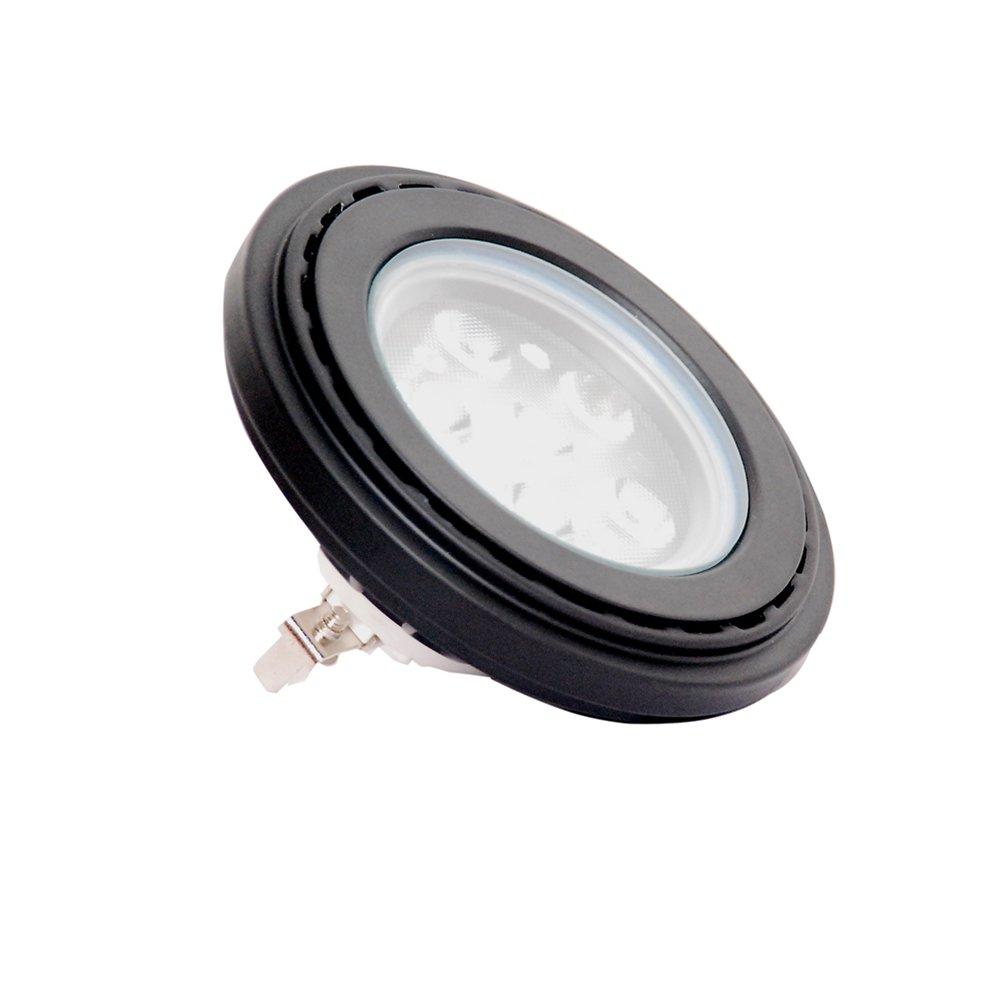 PAR36 LED Light G53 Connector Water Resistant Rating IP67,Soft Warm White 2700K,9-15V AC/DC for Landscape Lighting Black Color Aluminum Housing 10Watt