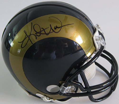 - Kurt Warner St. Louis Rams, Signed, Autographed, Mini Helmet, a COA with the Proof Photo of Kurt Signing Will Be Included