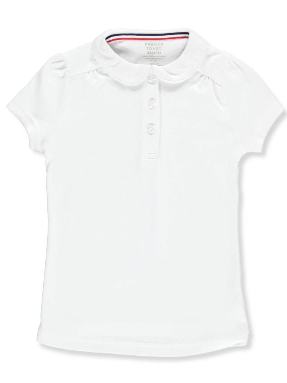 French Toast Big Girls' S/S Peter Pan Collar Polo