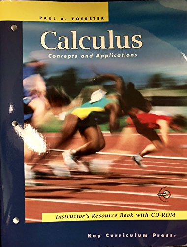 Calculus: Concepts and Applications, Instructor's Resource Book with CD/ROM (Advanced -