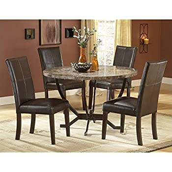 Delicieux Hillsdale Monaco Round Faux Marble Top Dining Table With 48 Inch Diameter,  Matte Espresso