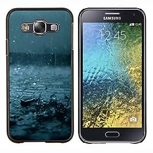 LECELL--Funda protectora / Cubierta / Piel For Samsung Galaxy E5 E500 -- Otoño Azul Tormenta de verano Naturaleza --