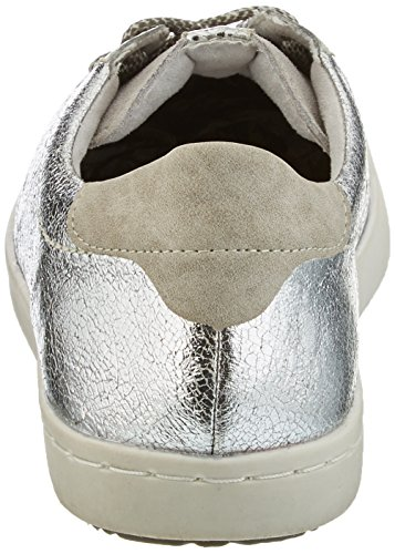 Remonte silber quarz D5200 offwhite 90 36 Basses Argent silber 80 Eu grey Elfenbein tan Sneakers Femme rrP6wqC
