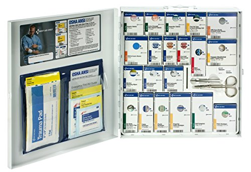 Pac-Kit by First Aid Only 746000 Large Metal SmartCompliance First Aid Cabinet with Medications - Aid Metal