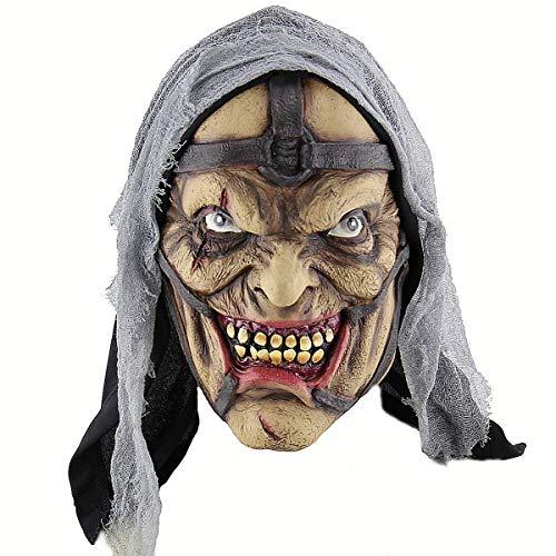 (Polymer Halloween Party Mask Cosplay Mask Horrific Mask Creepy Terrifying Toothy Wizard Mask Hallowwen Party)