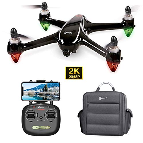 Contixo F18 2K Drone with UHD Camera FPV Live Video for Adults, GPS RC Quadcopter with Brushless Motor, 5G, Auto Return Home, Long Flight Time, Selfie for Beginners - Water Resistant Carrying Backbag