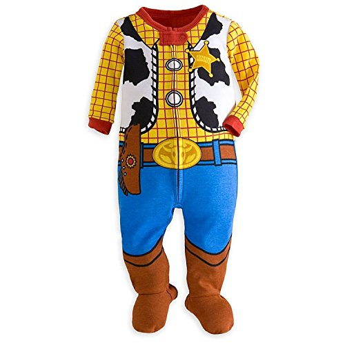 [Disney Store Toy Story Woody Costume Little Boy Footed Sleeper Pajama 12-18 M] (Woody Toy Story Costume Baby)
