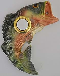 Bass Fish Decorative Doorbell Cover