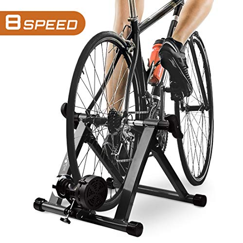 """HEALTH LINE PRODUCT Indoor Bike Trainer, Magnetic 26-29"""" Bicycle Exercise Trainer Quiet Noise Reduction Stationary Cycling Stand"""