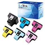 LxTek 6 Pack Remanufactured Ink Cartridge Replacement for HP 02 Q7964AN for HP PhotoSmart C7280 C6280 C5180 C6180 D7360 D7460 8250 C7200 Printers (Black/Cyan/Magenta/Yellow/Light Cyan/Light Magenta)