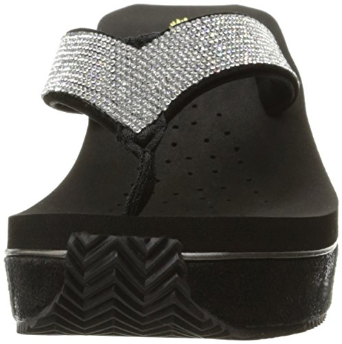 Volatile Women's Glimpse Wedge Sandal Black/Silver discount fashion Style aZPaQg7