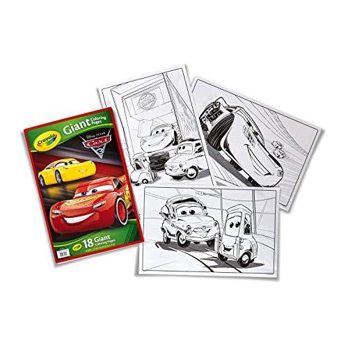 80%OFF Páginas gigantes para colorear de Cars 3, de Crayola 04 0126 ...